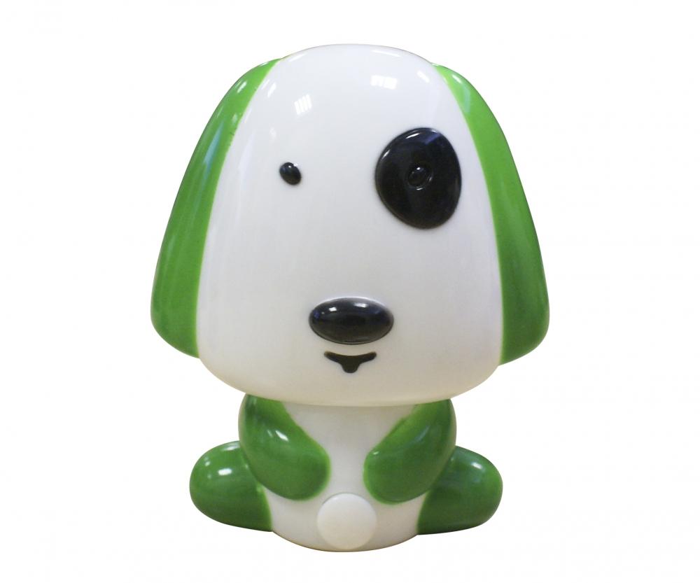 074109,07 Светильник-ночник зеленый Kink Light Щенок