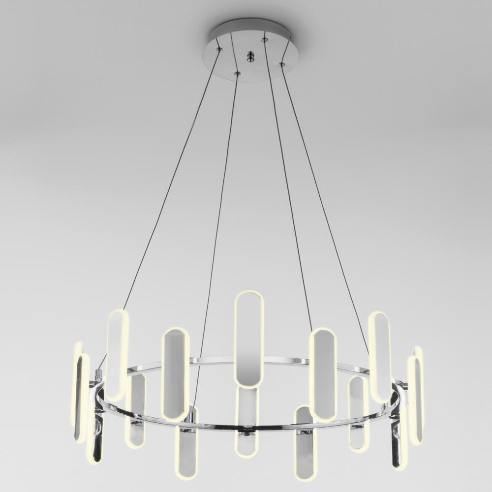Подвесной светодиодный светильник Eurosvet Riddle 90206/16 хром