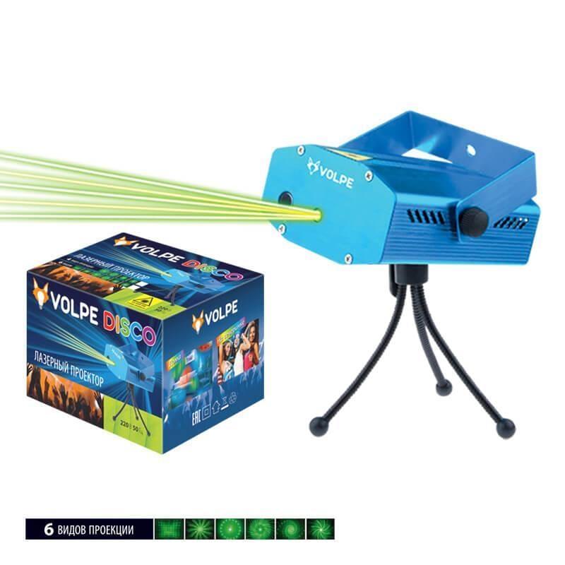 UDL-Q350 6P/G BLUE Лазерный светильник-проектор (UL-00001185) Volpe Disko