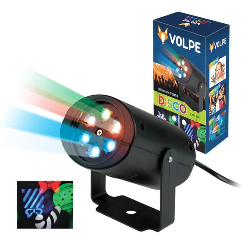 ULI-Q306 4W/RGB BLACK XMAS Светодиодный светильник-проектор (UL-00001188) Volpe Disko