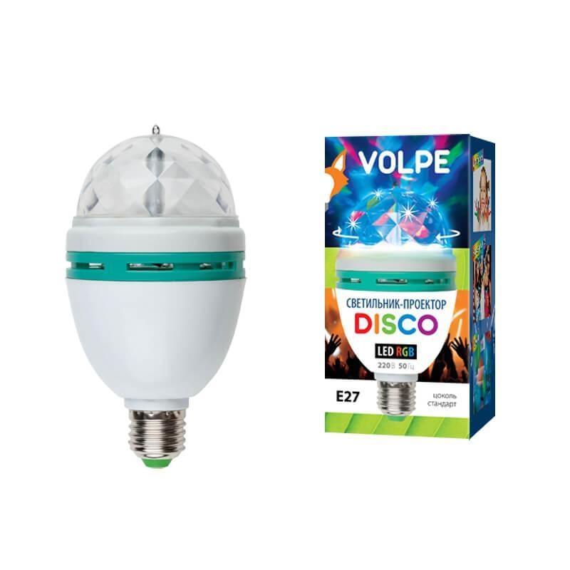 ULI-Q301 03W/RGB/E27 WHITE Светодиодный светильник-проектор (09839) Volpe Disko