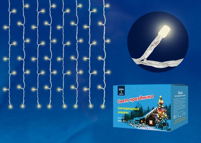 ULD-C2030-240/DTA теплый белый Занавес светодиодный Uniel 3х2м UL-00003680
