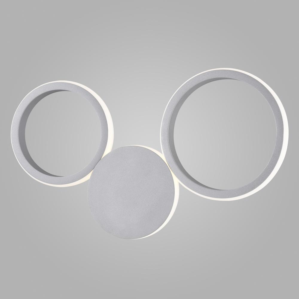 40141/1 LED серебро Настенный светодиодный светильник Eurosvet Rings a044876
