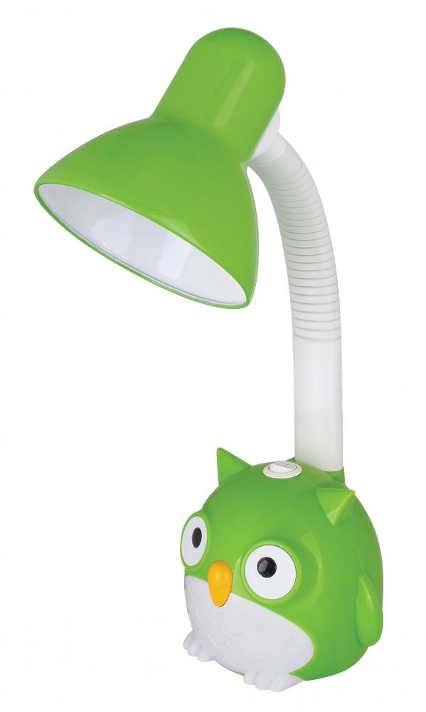 KD-380 ''Сова'' C05 зеленый Настольный светильник Camelion 12604