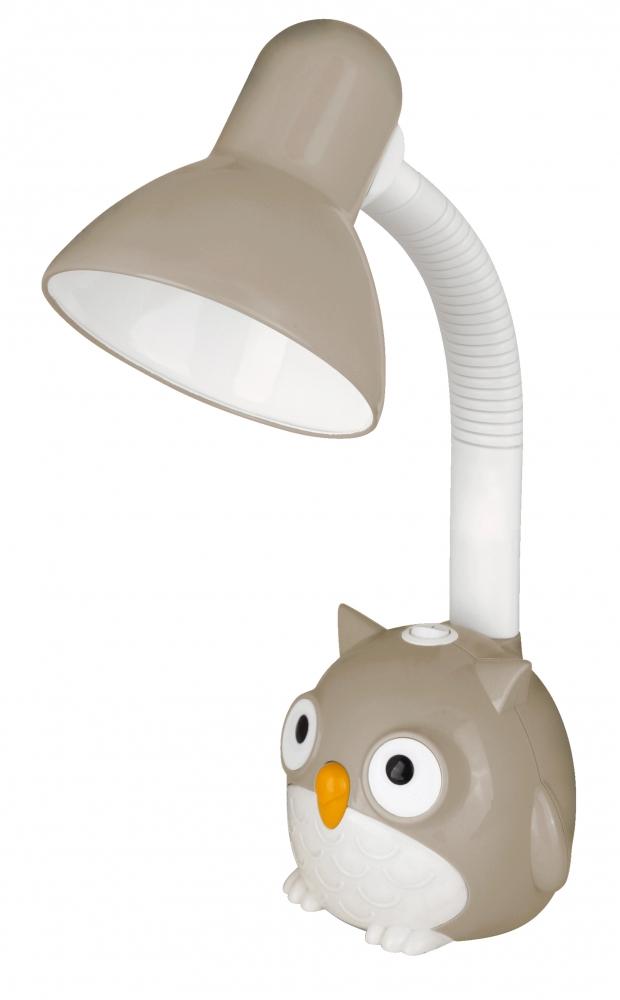 KD-380 ''Сова'' C09 серый Настольный светильник Camelion 12606