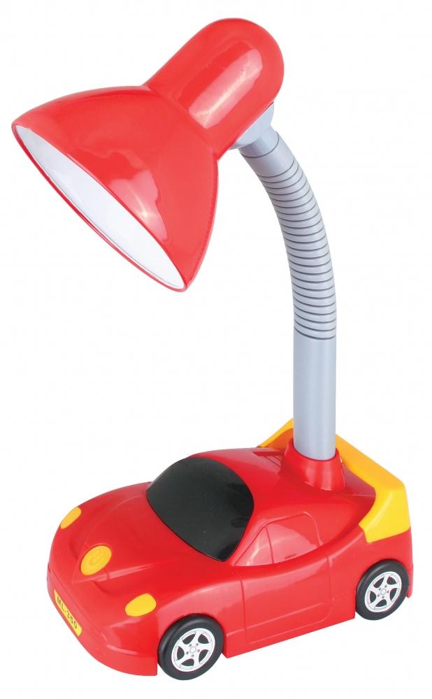 KD-383 ''Машинка'' C04 красный Настольный светильник Camelion 12610