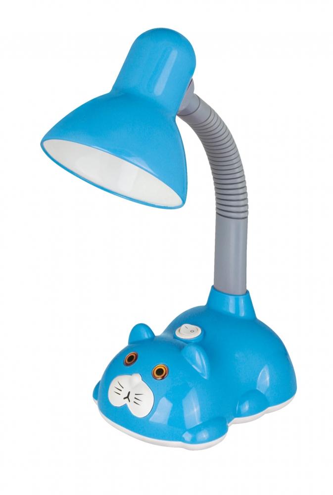 KD-385 ''Кот'' C13 голубой Настольный светильник Camelion 12615
