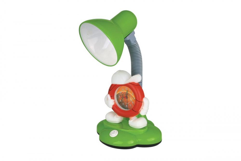 KD-388 С05 зеленый Настольный светильник с часами Camelion 12620