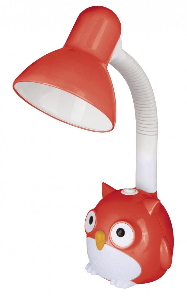 KD-380 ''Сова'' C04 красный Настольный светильник Camelion 12882