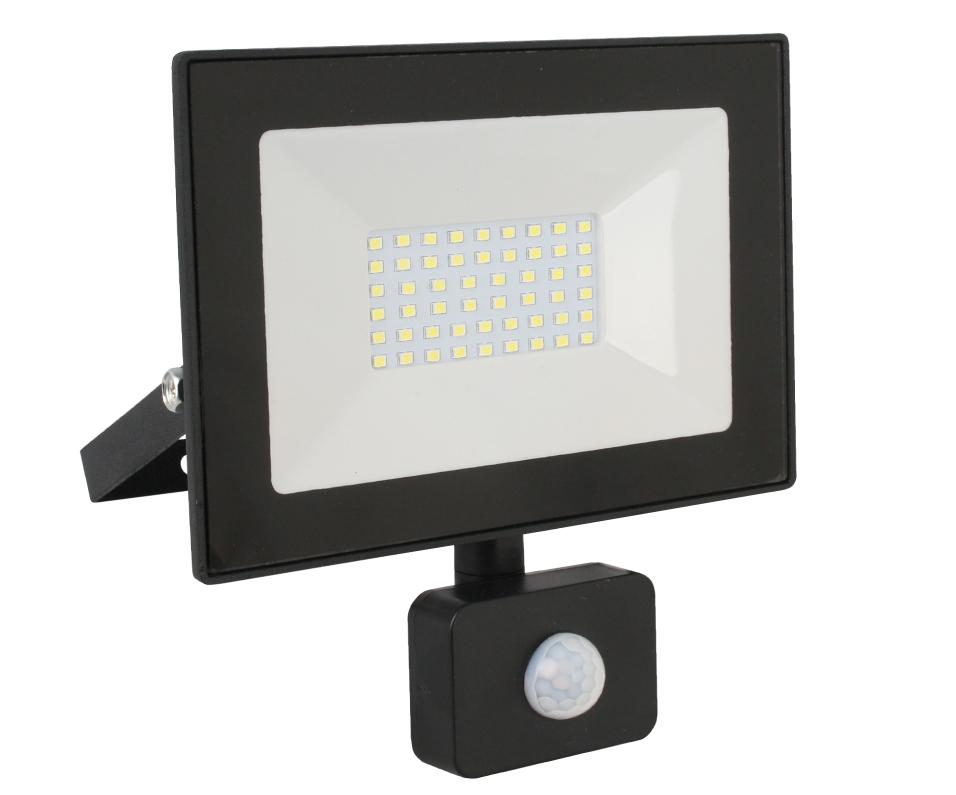 Светодиодный прожектор с датчиком Ultraflash LFL-5002S C02 50Вт