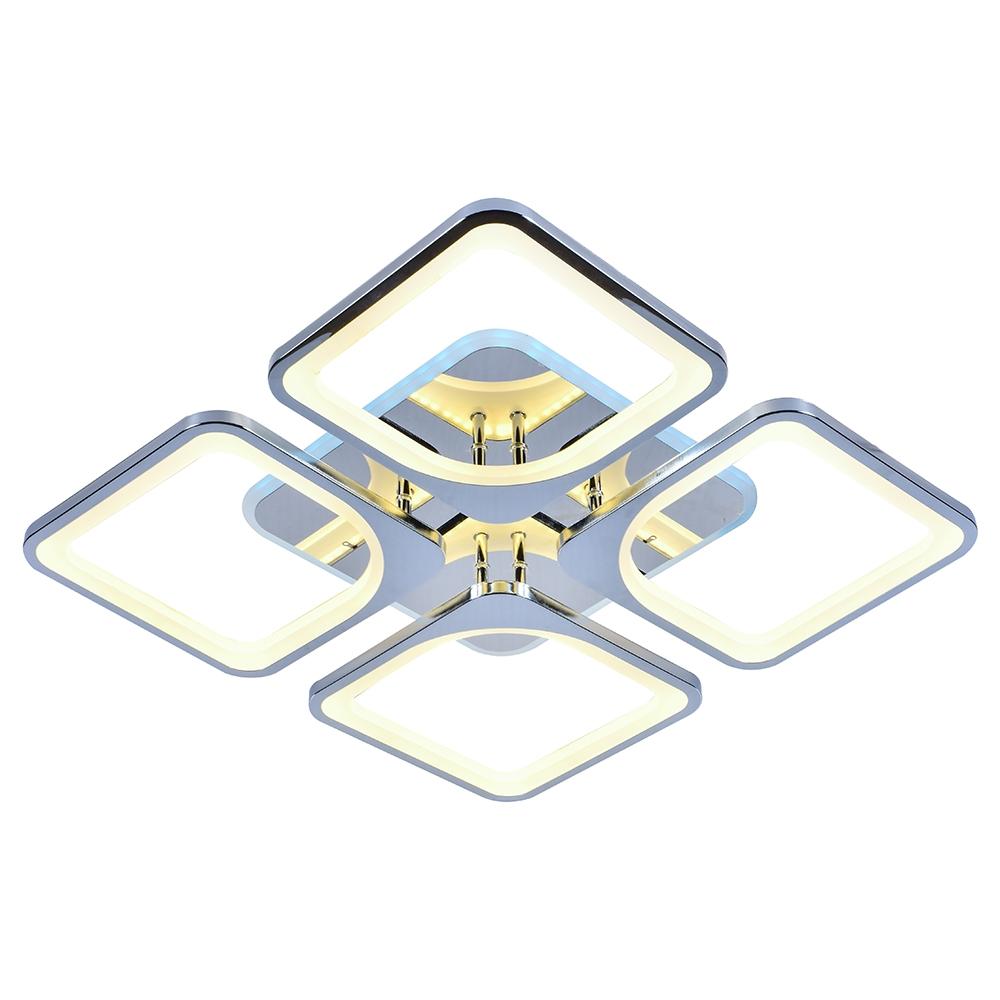 Светодиодная диммируемая люстра с пультом ДУ Profit Light 10005/4 CHR RGB 136W+22W