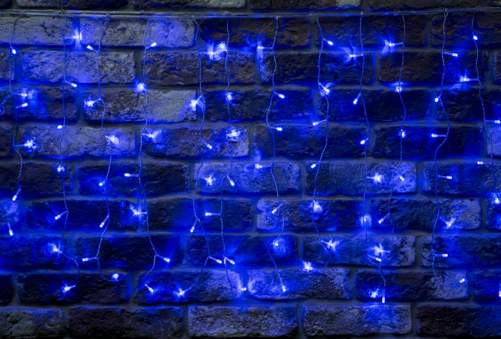 Гирлянда светодиодная 3,3х0,6м. Luxor бахрома синяя (BC-683) (1058940)