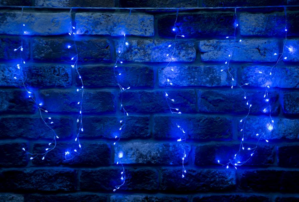 Гирлянда светодиодная 2,8x0,5м. Luxor бахрома синяя (B0C-686) (1060906)