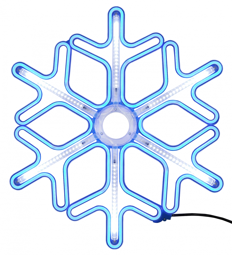 1058942 Светодиодная фигура снежинка Luxor уличная (6059-11) 0,59х0,59 м