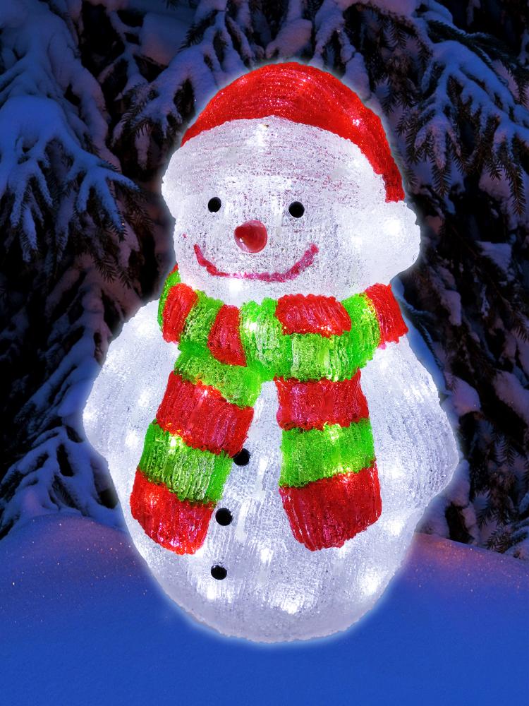 1060784 Светодиодная фигура снеговик Luxor уличная (9234-12) 0,47 м
