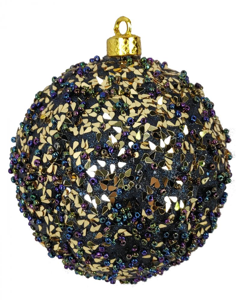 1060746 Ёлочная игрушка Jewel Night BC-585 8 см, 3 штуки