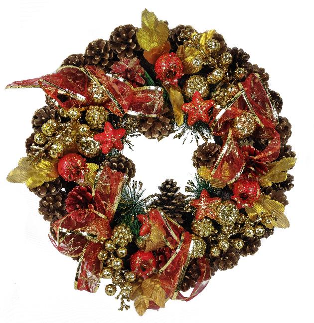 1060768 Венок новогодний декоративный Jewel Night (9112-11) 0,4x0,4 м