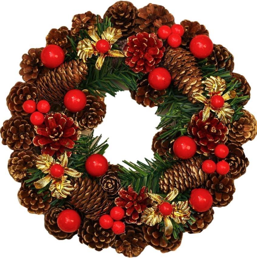 1060772 Венок новогодний декоративный Jewel Night (9112-15) 26x26 м