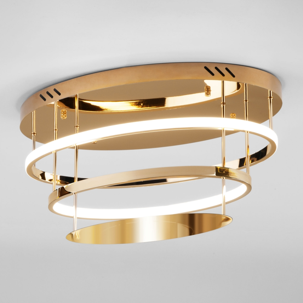 Потолочный светодиодный светильник Eurosvet Chic 90160/2 золото