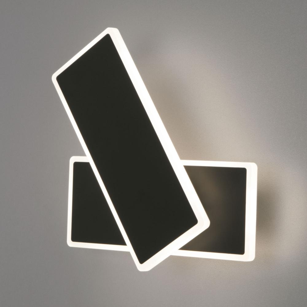 Настенный светодиодный светильник Евросвет Twirl 90316/2 черный 18W a045469