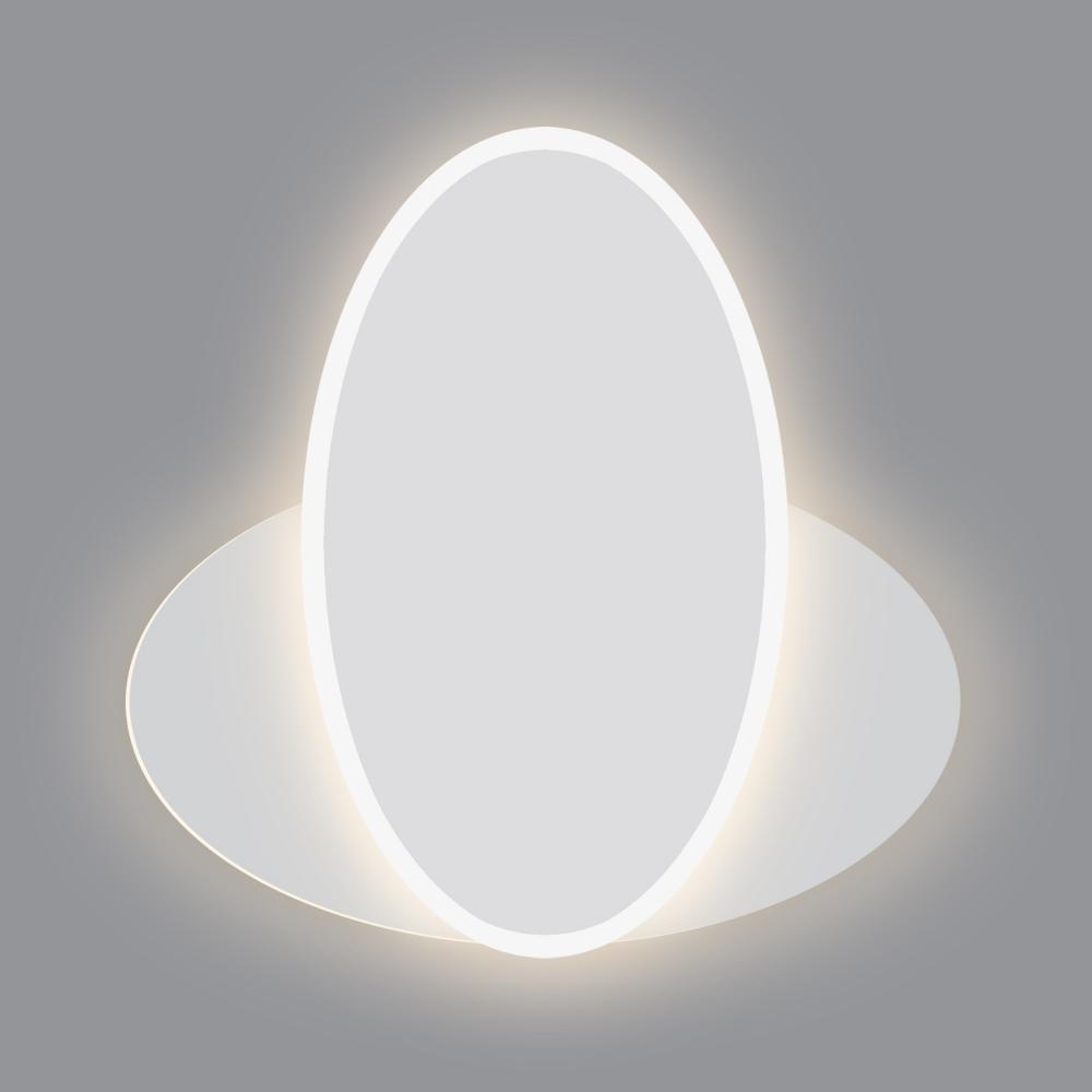 Настенный светодиодный светильник Евросвет Twirl 90315/2 белый 16W a045466