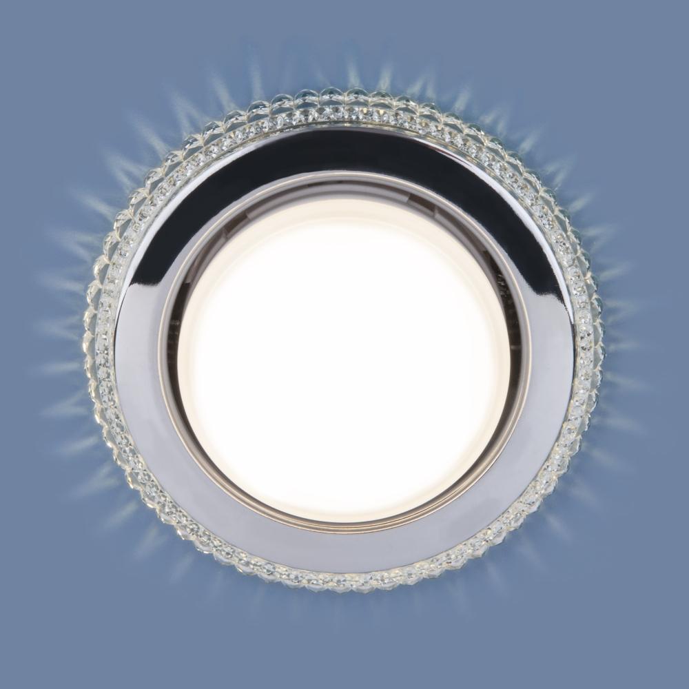Встраиваемый точечный светильник с LED подсветкой Elektrostandard 3031 GX53 CL прозрачный a045485
