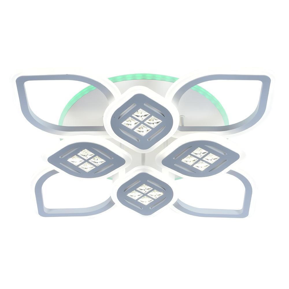 Светодиодная диммируемая люстра с пультом Profit Light 18067/4+4 WHT WHT 200W+11W RGB