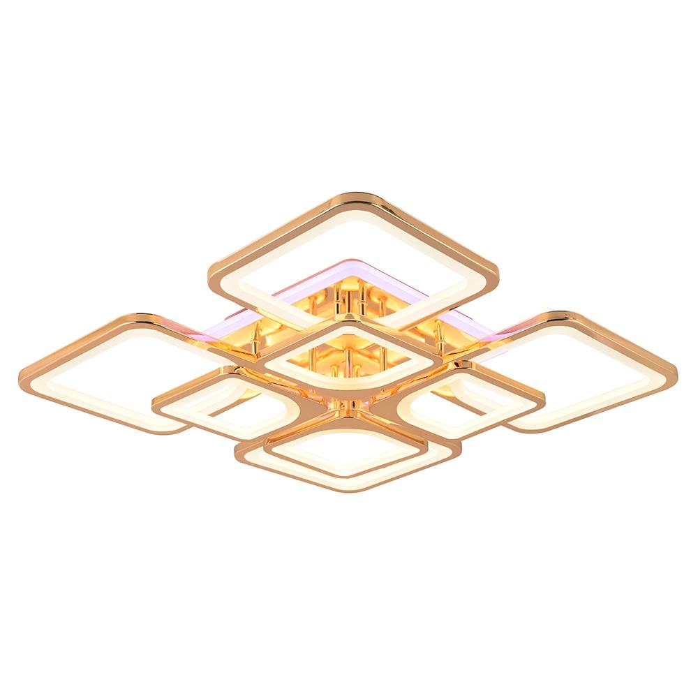 Светодиодная диммируемая люстра с пультом Profit Light 1537/4+4 FGD (BL+YL) 260W (BL+YL)