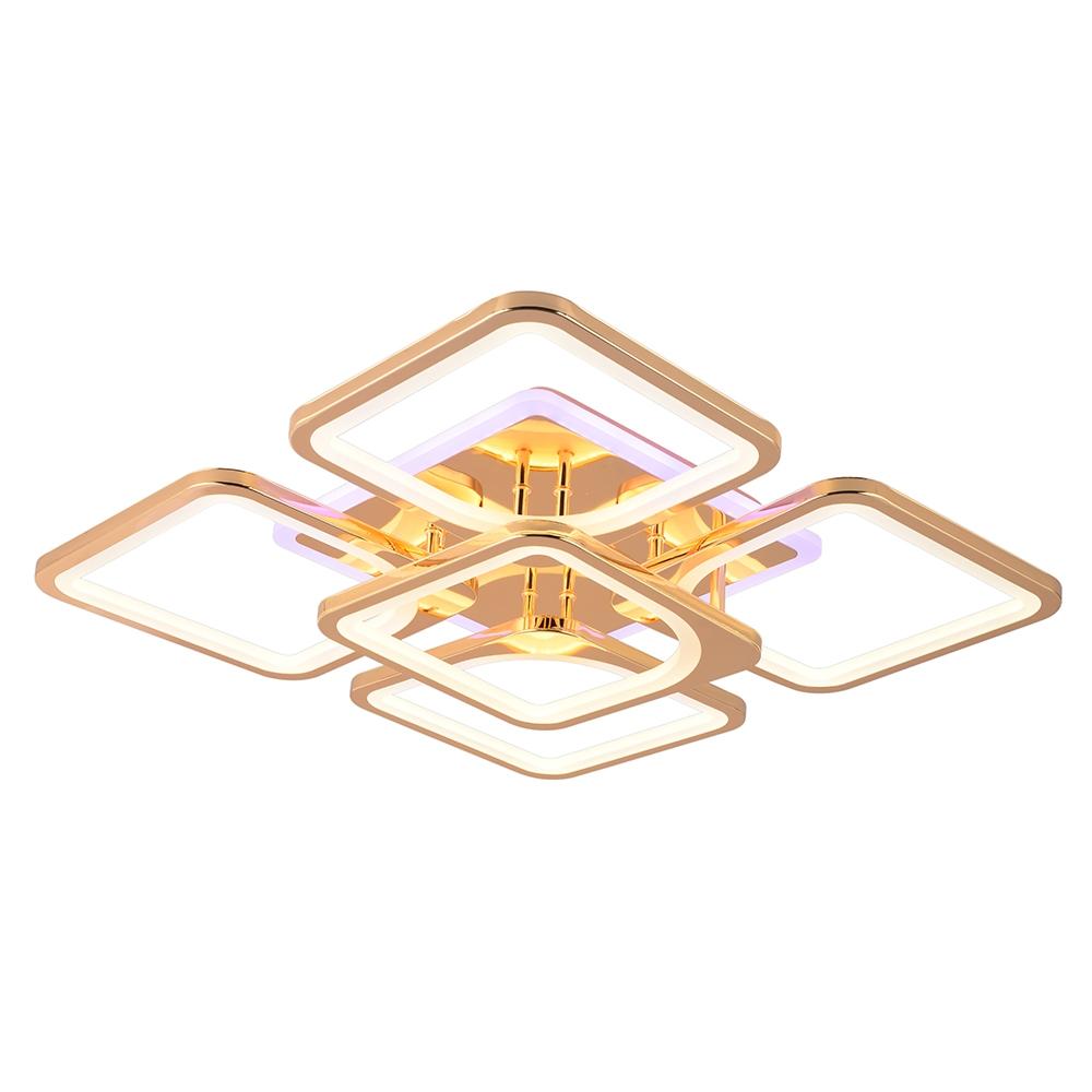 Светодиодная диммируемая люстра с пультом Profit Light 1537/4+1 FGD (BL+YL) 206W (BL+YL)