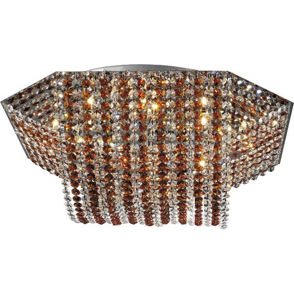 Люстра 06 2484 0133 09 chrome, amber and white crystal от производителя N-Light