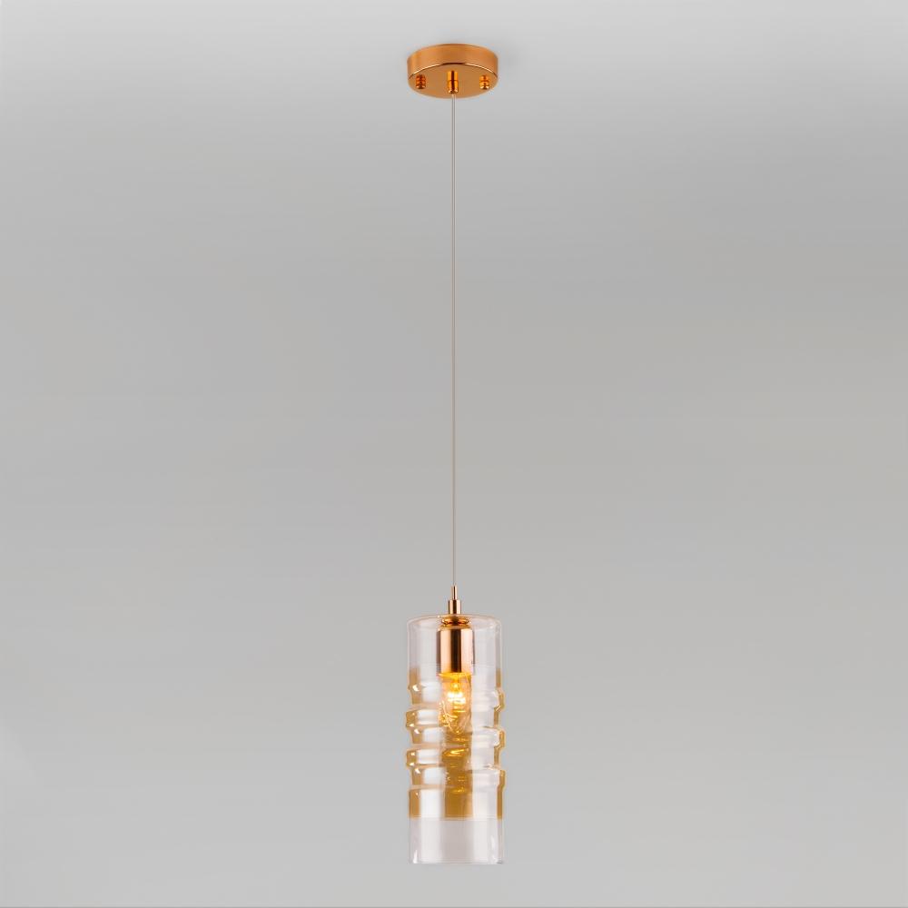 Подвесной светильник Евросвет Block 50185/1 золото a046303