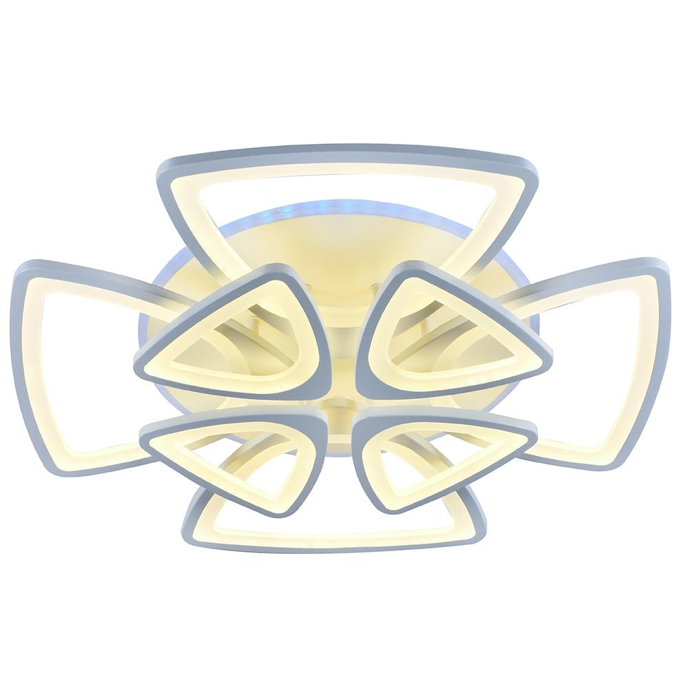 Светодиодная диммируемая люстра с пультом Profit Light 1264/4+4 WHT 216W+11W RGB