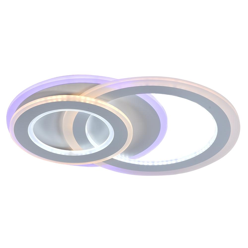 Светодиодная диммируемая люстра с пультом Profit Light 8778/2 WHT 120W+11W RGB