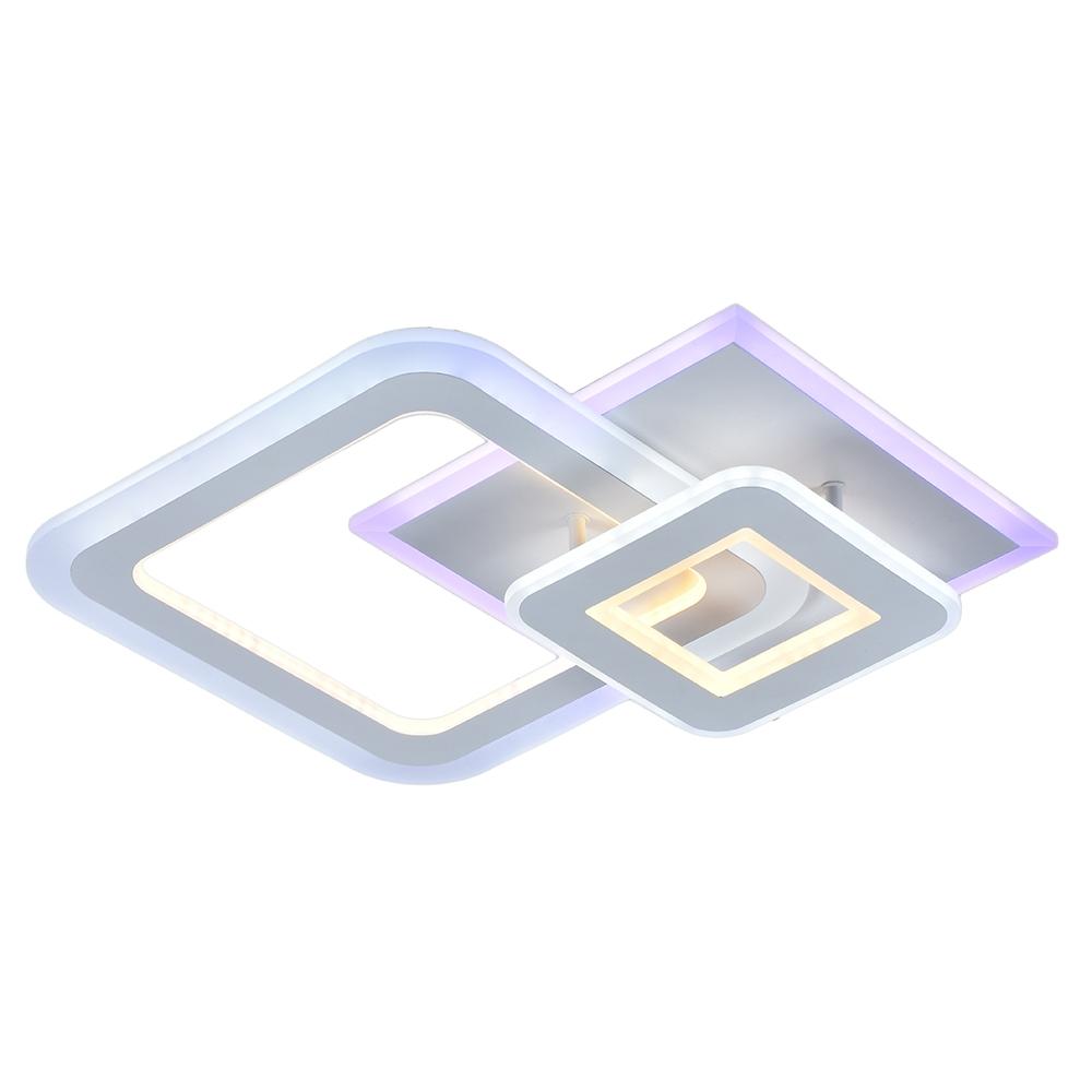 Светодиодная диммируемая люстра с пультом Profit Light 8795/2 WHT (BL+YL) 104W+28W RGB