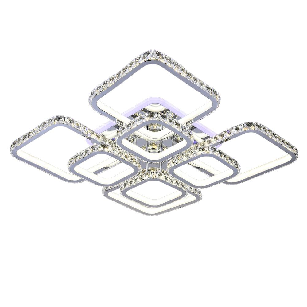 Светодиодная диммируемая люстра с пультом Profit Light 8010/4+4 CHR 476W BL+YL