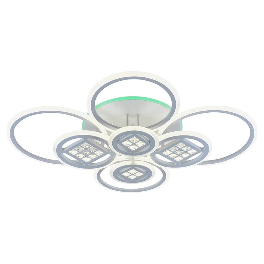 Светодиодная диммируемая люстра с пультом Profit Light 18030/8 A WHT 272W+15W RGB