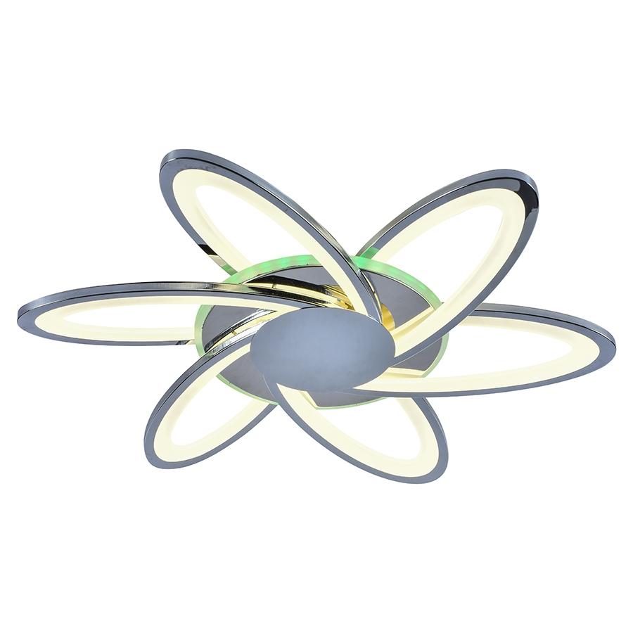 Светодиодная диммируемая люстра с пультом Profit Light 10014/6 CHR 144W+28W RGB