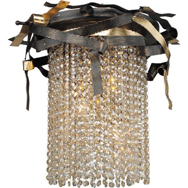 555-03-03 gold + black + shampagne crystal Потолочный светильник N-LIGHT
