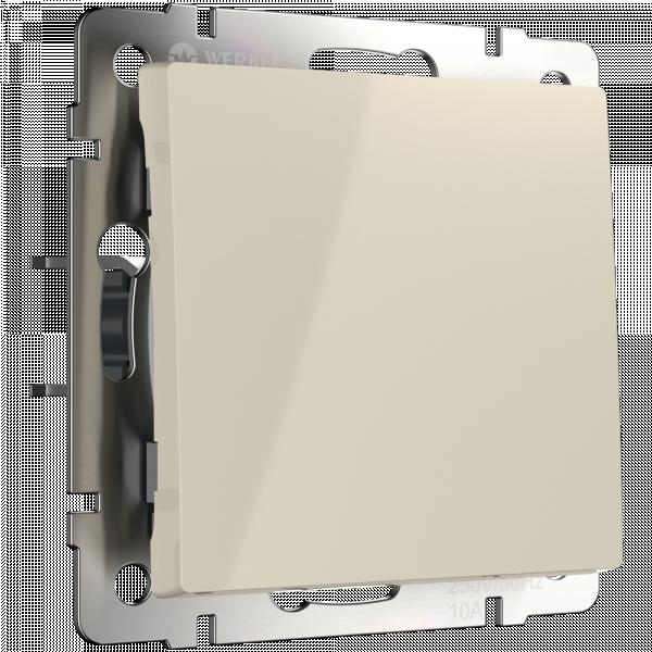 WL03-SW-1G-ivory /Выключатель одноклавишный (слоновая кость) WERKEL