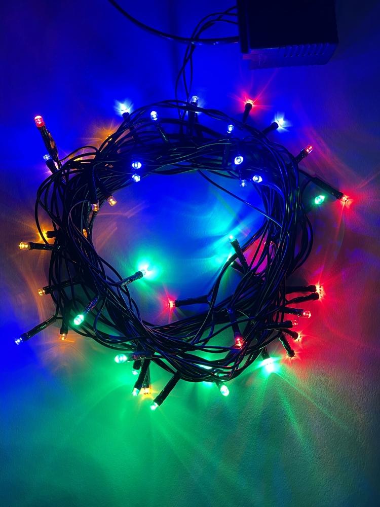 Гирлянда LED Нить 5м мультиколор 8 режимов, 220V, IP20 Эра Б0041892 (ENIN-5M)