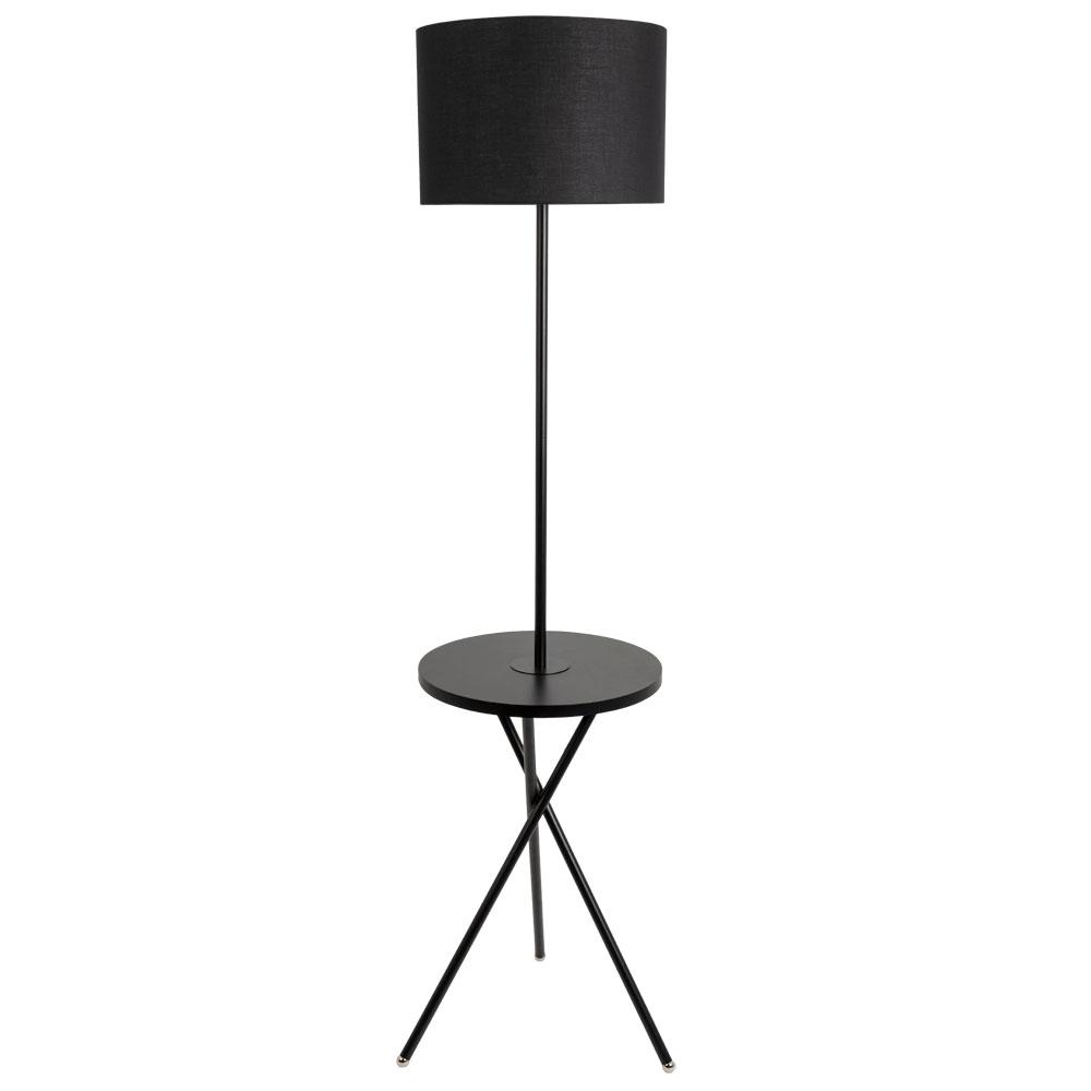 Торшер на треноге со столиком Arte lamp Combo A2070PN-1BK