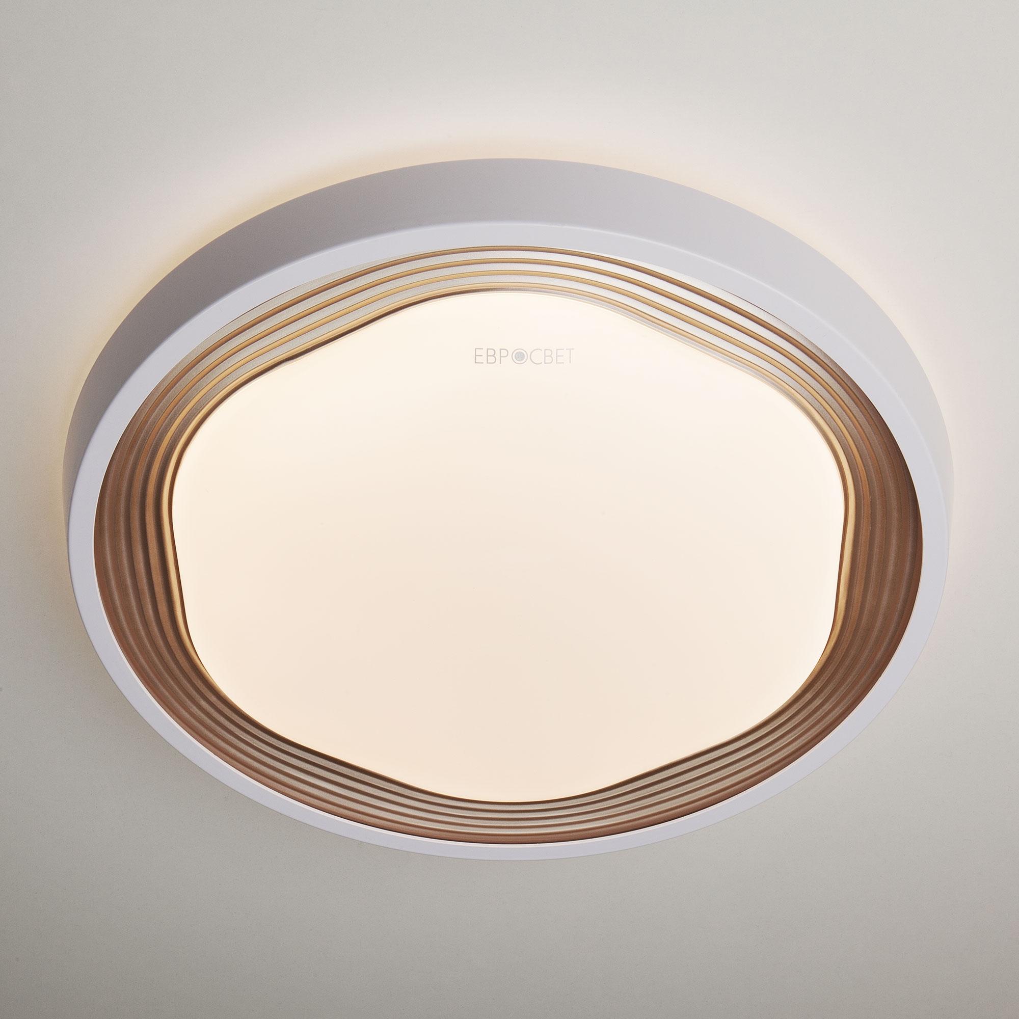 Потолочный светодиодный светильник Eurosvet Range 40005/1 LED кофе