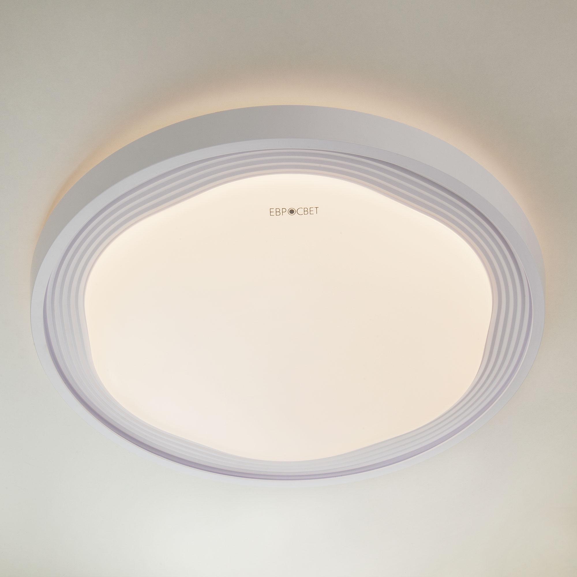 Потолочный светодиодный светильник 40006/1 LED белый ЕВРОСВЕТ