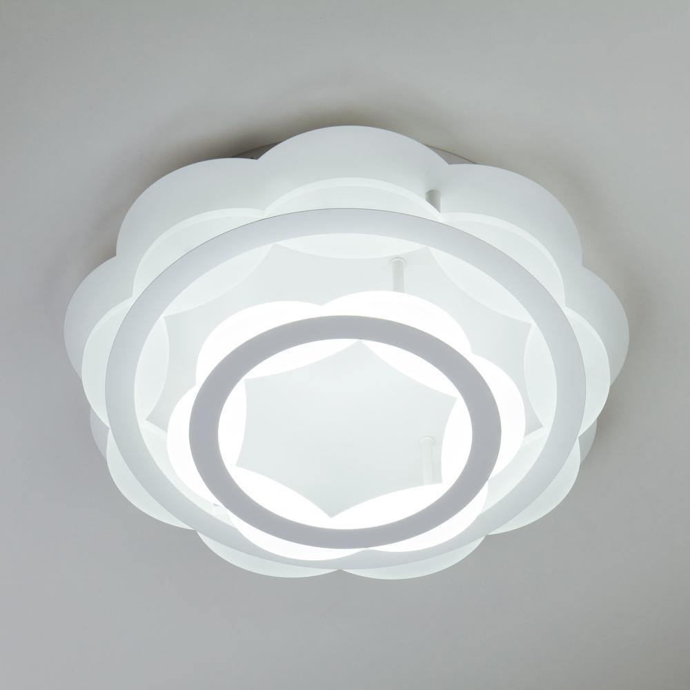Светодиодная люстра с регулируемой температурой света и яркости 90076/2 белый ЕВРОСВЕТ
