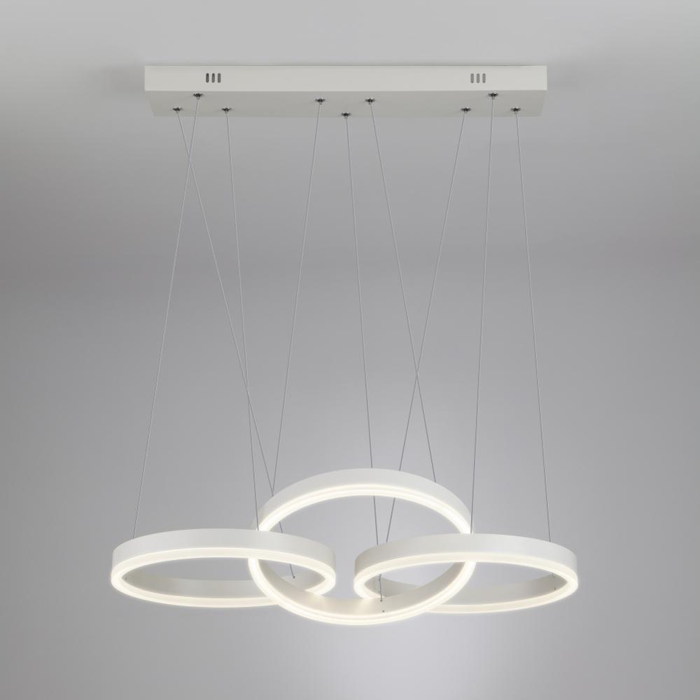Светодиодный подвесной светильник 90070/3 белый ЕВРОСВЕТ