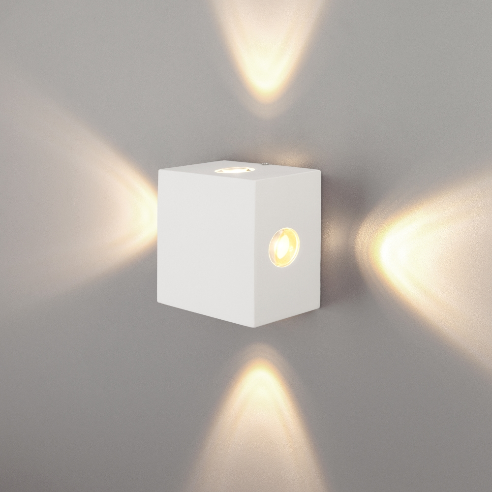 1601 TECHNO LED Kvatra белый Уличный настенный светодиодный светильник Elektrostandard