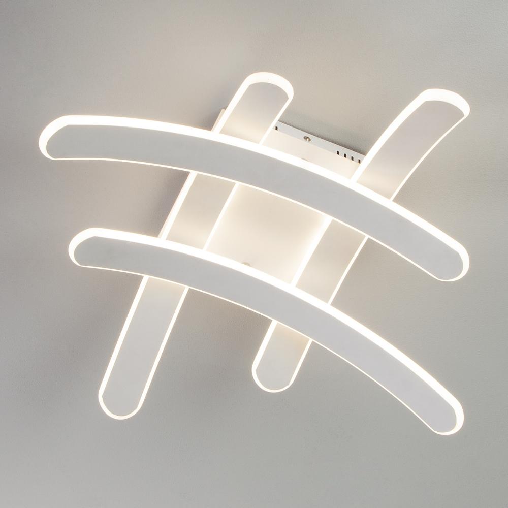 90085/4 белый Потолочный светодиодный светильник Eurosvet Assara