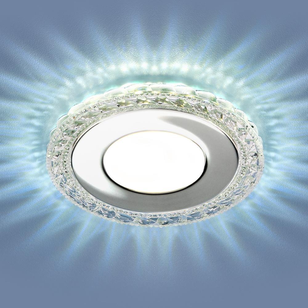 9909 LED 8W CL прозрачный Светильник встраиваемый светодиодный с подсветкой Elektrostandard