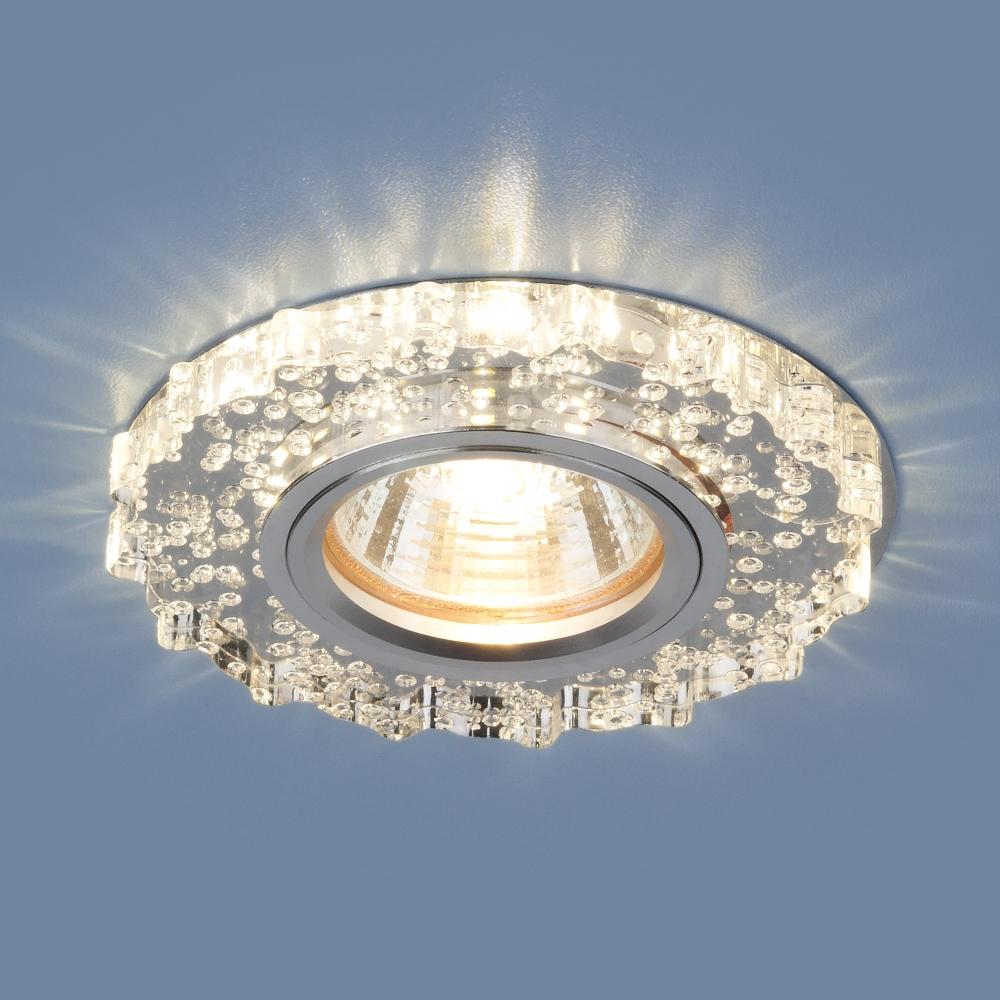 2202 MR16 CL прозрачный Светильник точечный встраиваемый со светодиодной подсветкой Elektrostandard