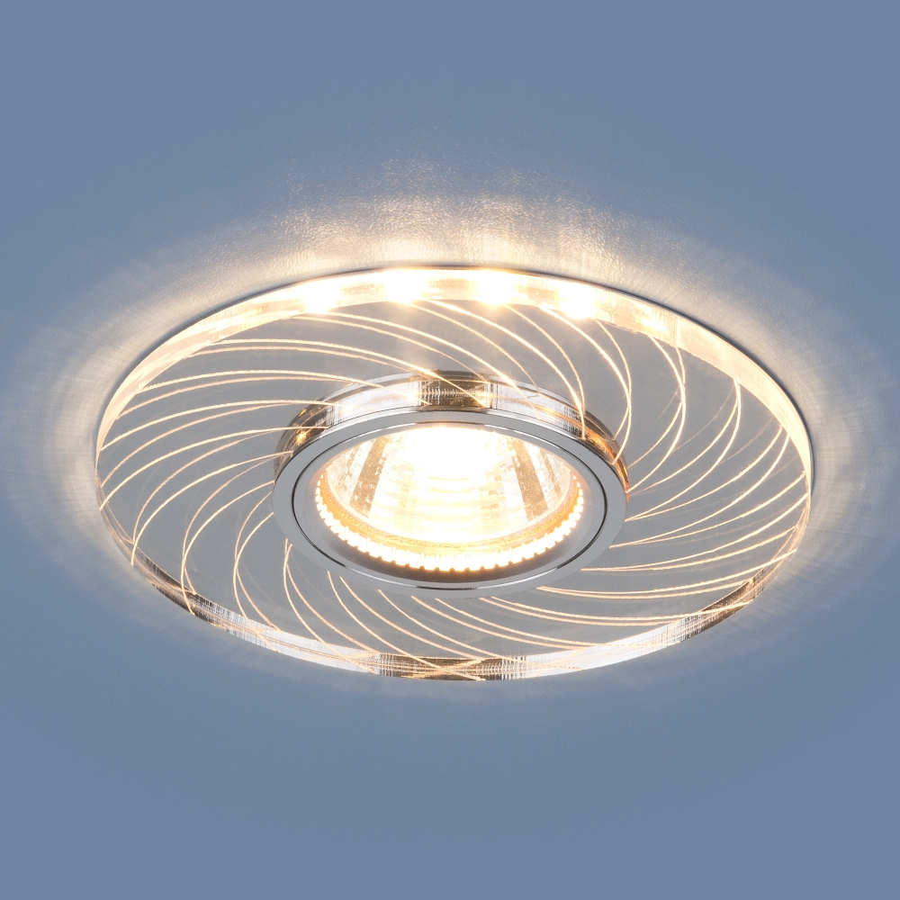 2203 MR16 CL прозрачный Светильник точечный встраиваемый со светодиодной подсветкой Elektrostandard